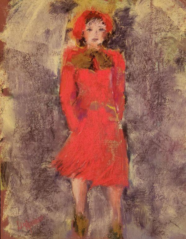 """Strolling"" Original Pastel by Lu Harris Studio at Opera Alley"