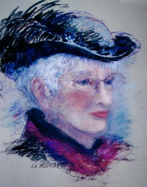 Tess, original pastel by Lu Harris