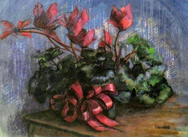 The Red Ribbon | Original Pastel by Lu Harris | The Studio at Opera Alley