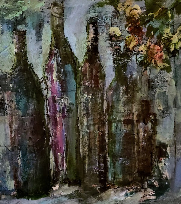 Wine Bottles Multimedia Lu Harris